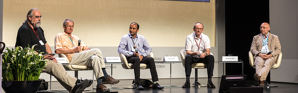 Panel Discussion (2017) - Current and Future Game Changers in Chemistry; Stefan Hell, Richard R. Schrock, Jörg Huslage (Volkswagen Group), Siddulu Talapaneni (University of South Australia); Moderator: Geoffrey Carr
