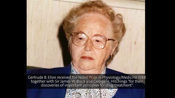 Gertrude Elion  (1996) - Antiviral Chemotherapy: Successes and Challenges