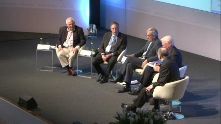 Panel Discussion (2011) - Panel 'Demographic Change, Economics and Politics': Peter A. Diamond, Sir James A. Mirrlees, Christopher A. Pissarides, Edward C. Prescott (Chair: Martin Wolf, Financial Times)