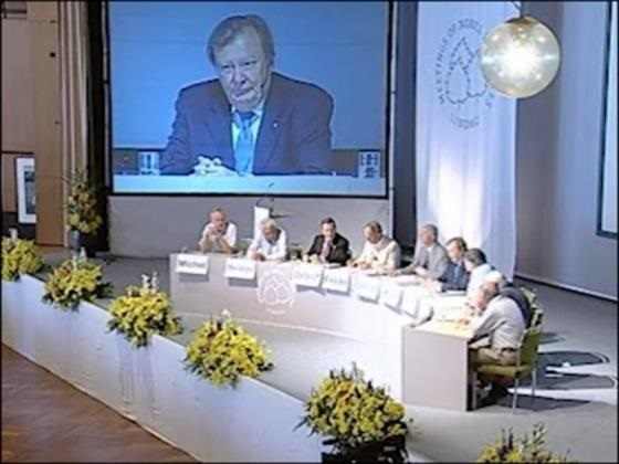 Panel Discussion (2008) - Panel Discussion on 'Climate Changes and Energy Challenges' with Nobel Laureates Profs. Deisenhofer, Giaever, Michel, Osheroff, Rubbia, von Klitzing, Steinberger (Chair: Prof. Dr. Hans Joachim Schellnhuber)