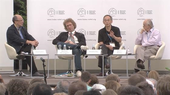 Panel Discussion (2013) - Closing Session: Award Ceremony; Dialogue with Ramos-Horta and Stalsett; Panel Discussion 'Green Chemistry' (Host: Fred Guterl; participating panelists: Michael Braungart, Steven Chu, Mario Molina )