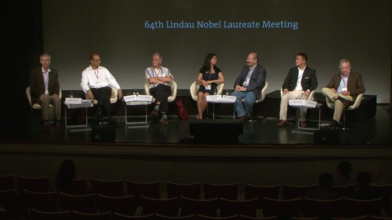 Panel Discussion (2014) - Academia and Industry – Exploring the Collaborative Landscapes of the Future; Panelists Beutler, Goldman, Gøtzsche, Gomes, Malik, Wang