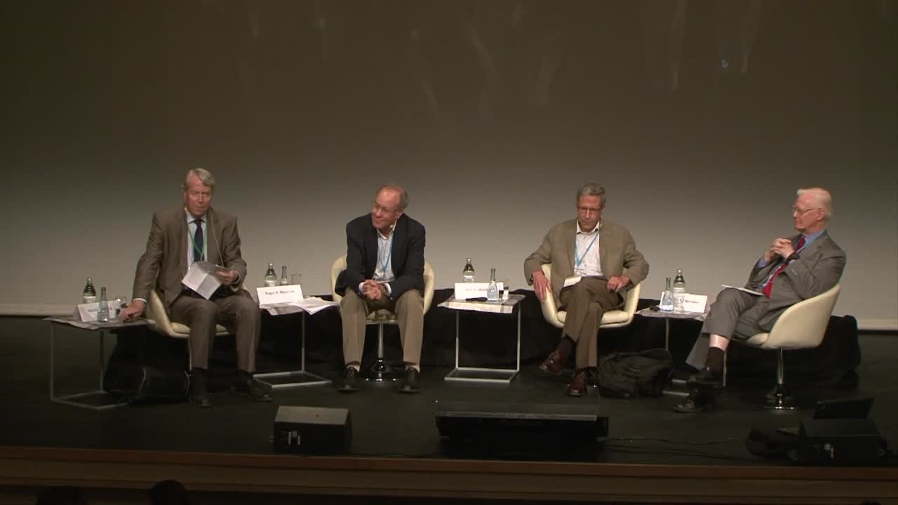 Panel Discussion (2014) - Strategic Behavior, Incentives, and Mechanism Design; Panelists Maskin, Mirrlees, Myerson