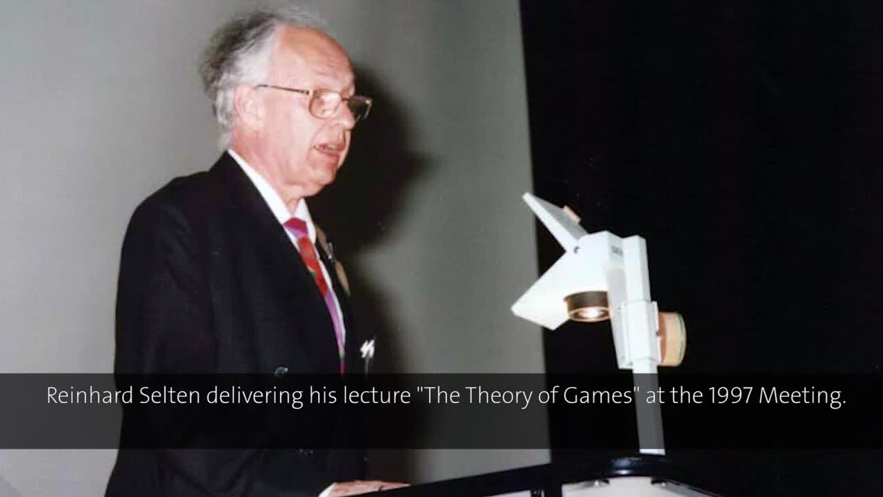 Reinhard Selten (1997) - The Theory of Games (German presentation)