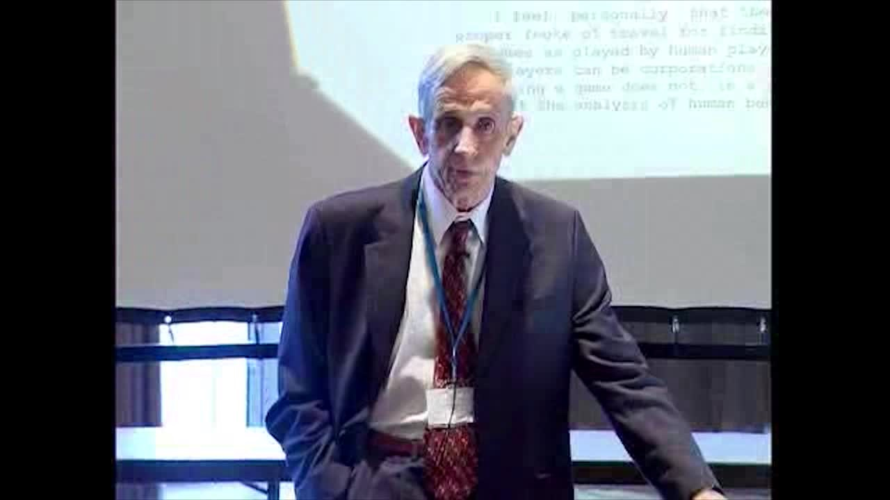 John Nash Jr. (2006) - The Agencies Method and Cooperative Games