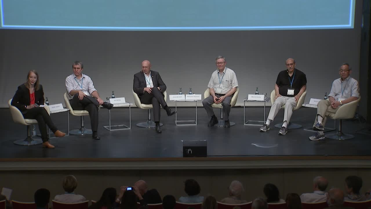 Panel Discussion  (2015) - The Quest for Interdisciplinarity: Inspiration or Distraction? (Panelists Betzig, Chalfie, Chu, Hell, Moerner; Moderator: Sibylle Anderl)