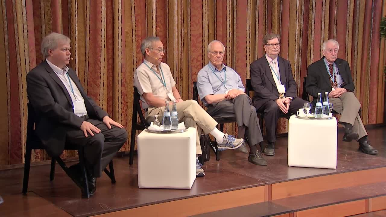 Press Conference Mainau Declaration  (2015) - Press Conference Mainau Declaration 2015 with Laureates Brian Schmidt, Steven Chu, David Gross, George Smoot, Peter Doherty