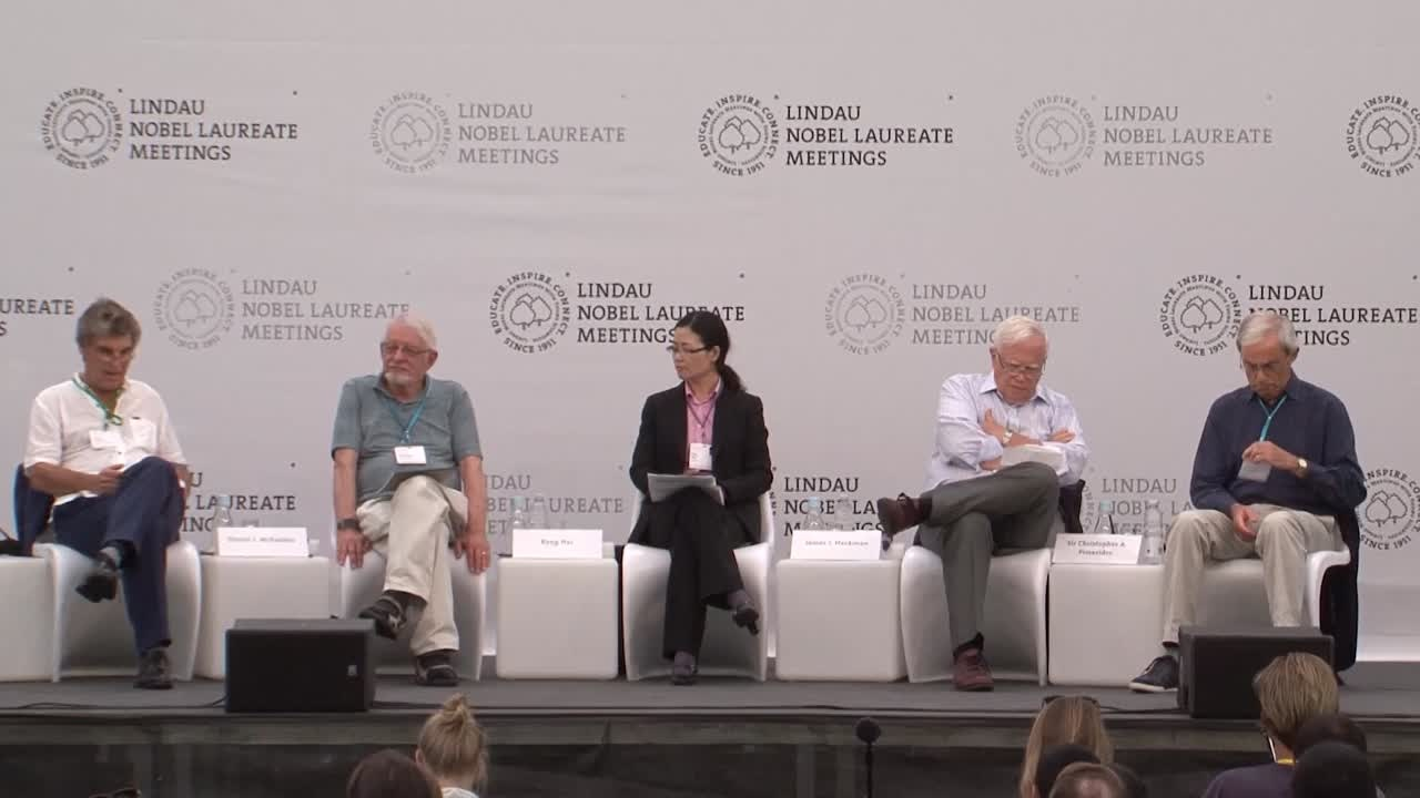Closing Panel Discussion (2017) - What Could and Should We Do About Inequality? Panellists: Rong Hai, James J. Heckman, Daniel L. McFadden, Christopher A. Pissarides; Moderator: Torsten Persson