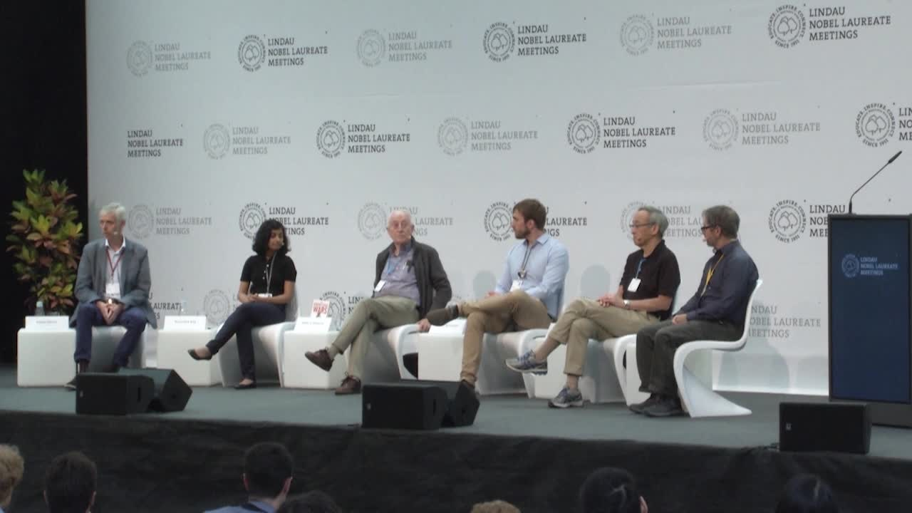 Panel Discussion (2018) - Science in a Post-Factual World; Steven Chu, Peter C. Doherty, Arunima Roy, Brian Malow, Adam Whisnant; Moderator: Adam Smith