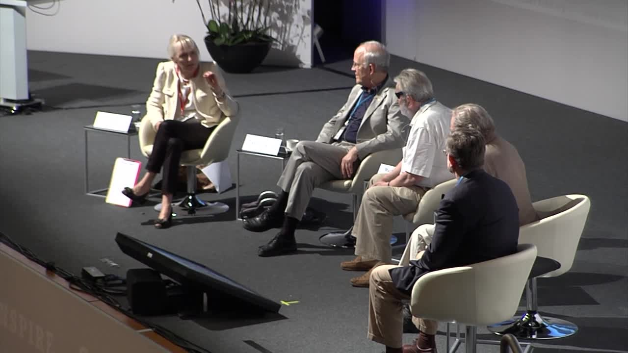 Panel Discussion (2012) - Panel Discussion 'Newest Developments at CERN' (with Nobel Laureates Gross, Rubbia, Smoot and Veltman and a live link to Geneva)