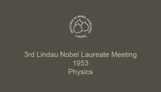 3rd Lindau Nobel Laureate Meeting (1953)