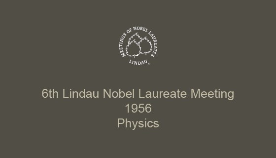 6th Lindau Nobel Laureate Meeting (1956)