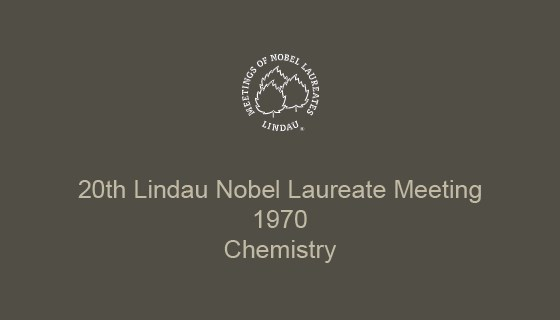 20th Lindau Nobel Laureate Meeting (1970)