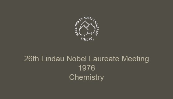 26th Lindau Nobel Laureate Meeting (1976)