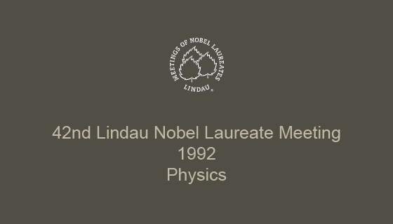 42nd Lindau Nobel Laureate Meeting (1992)