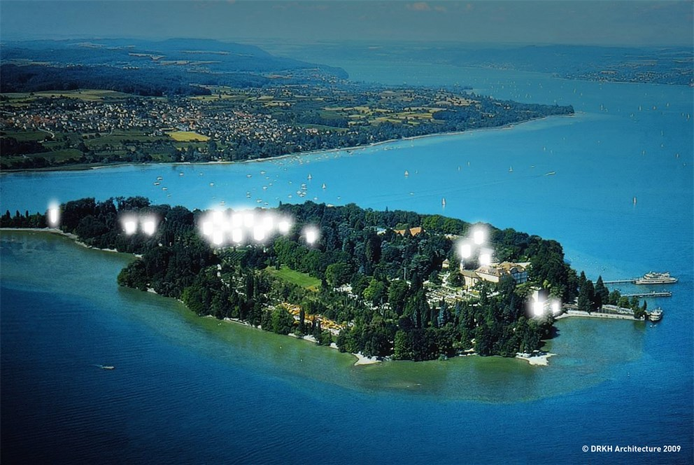 20 pavillions, each managed by one exhibition partner, were placed all over Mainau Island.<br>
