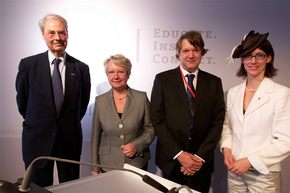 Opening of the exhibition (with Wolfgang Schürer, Annette Schavan, Christoph Bosch, Countess Bettina Bernadotte)<br>