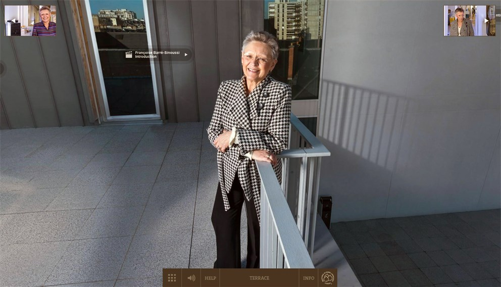 Click on the Banner to Start Françoise Barré-Sinoussi's Nobel Lab 360'