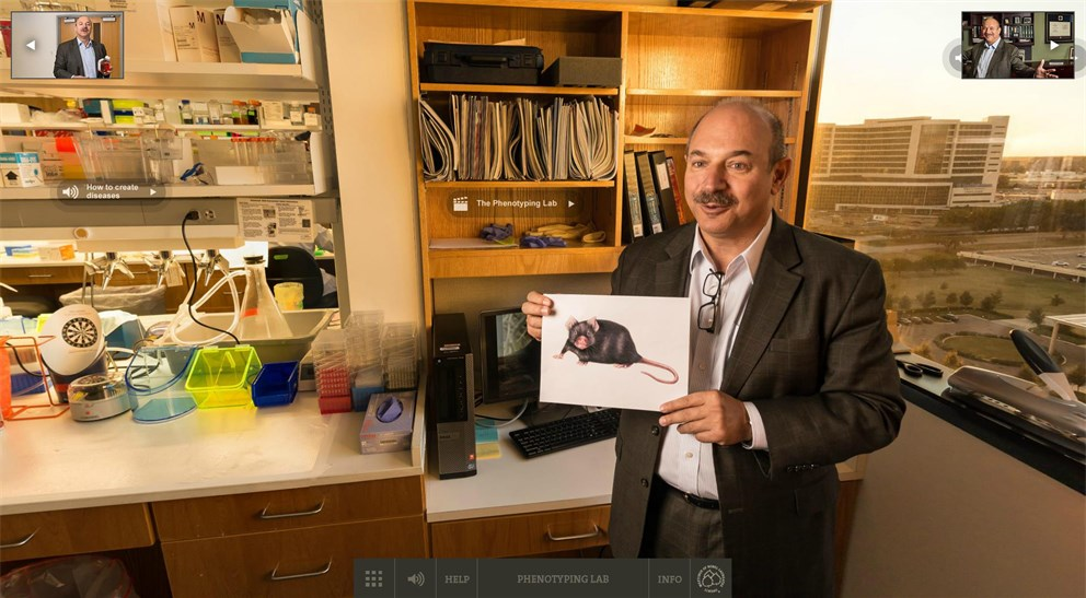 Click on the banner to start Bruce Beutler's Nobel Lab 360°!