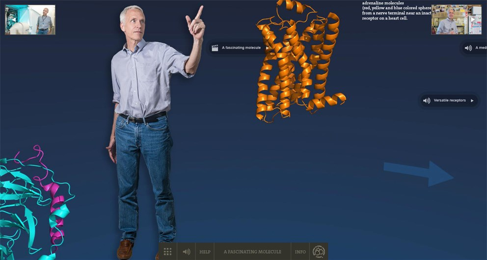 Click on the banner to start Brian Kobilka's Nobel Lab 360°!