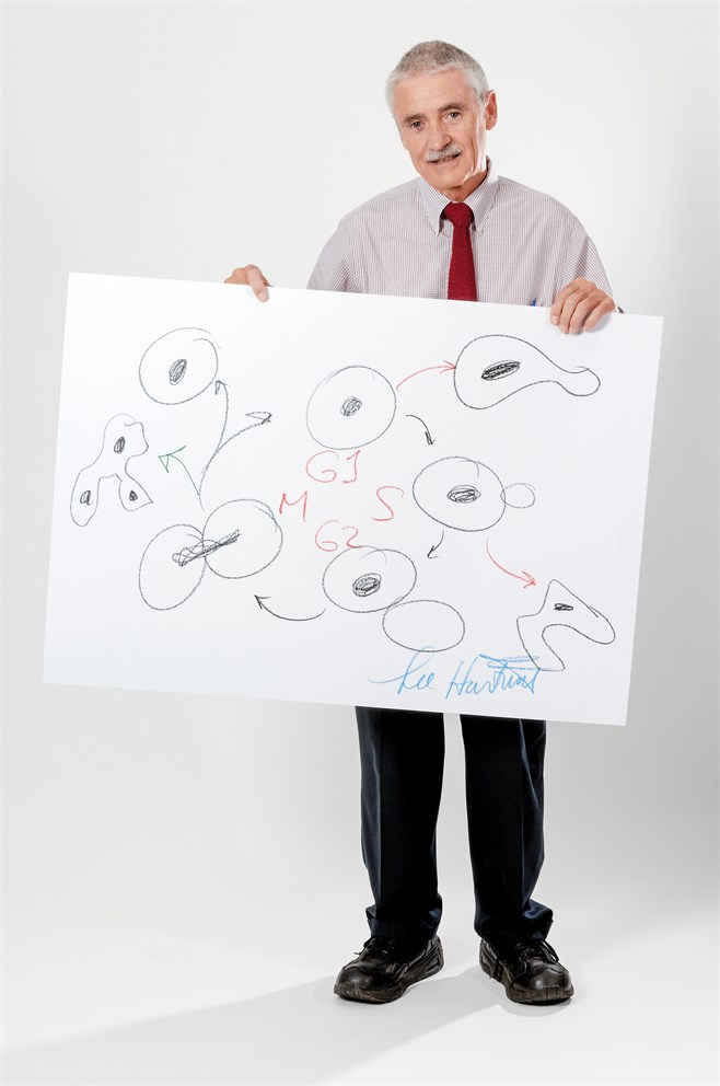 "Leland Hartwell with his ""Sketch of Science"""