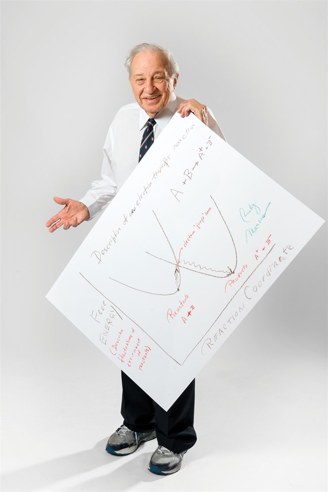 "Rudolph Marcus with his ""Sketch of Science"""