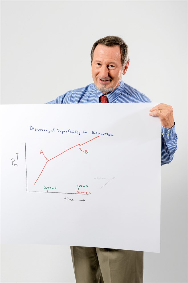 "Douglas Osheroff with his ""Sketch of Science"""