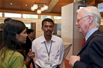 Sir James Mirrlees  - Laureate Sir James Mirrlees discussing with young researchers