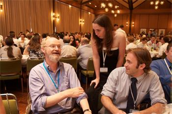 Robert Grubbs - Robert Grubbs (Laureate, Chemistry 2005) in discussion with young researchers
