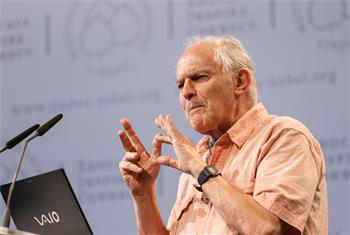 Sir Harold Kroto - Sir Harold Kroto delivering his lecture.
