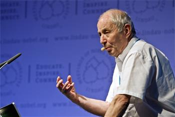 61st Lindau Nobel Laureate Meeting, 2011 - Nobel Laureate Avram Hershko lecturing on the role of the ubiquitin system in health and disease