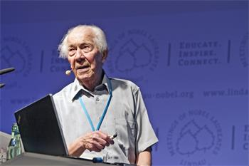 61st Lindau Nobel Laureate Meeting, 2011 - Nobel Laureate Christian René de Duve discusses the future of life
