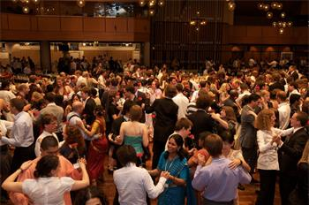 59th Lindau Nobel Laureate Meeting, 2009 - Young researchers dance during the festive part of the Meeting