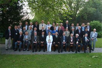 55th Lindau Nobel Laureate Meeting, 2005 - Group photo with Countess Bettina Bernadotte and the invitated Nobel Laureates