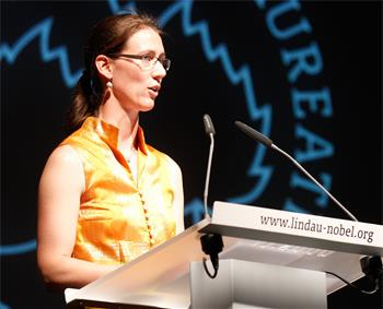 62nd Lindau Nobel Laureate Meeting, 2012 - Countess Bettina Bernadotte welcomes the guests at the opening ceremony