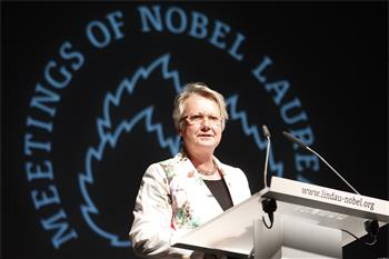62nd Lindau Nobel Laureate Meeting, 2012 - German Minister of Education and Research Annette Schavan delivering her opening speech at the 62nd Lindau Meeting