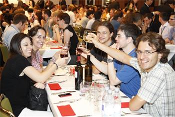 62nd Lindau Nobel Laureate Meeting, 2012 - Young researchers get together at the Singaporean social event