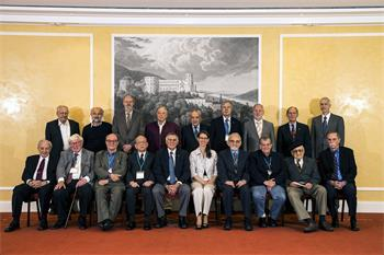 63rd Lindau Nobel Laureate Meeting, 2013 - Official group photo of the assembled Laureates of the 63rd Nobel Laureate Meeting.