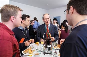 63rd Lindau Nobel Laureate Meeting, 2013 - Young researchers taking part in the Science Breakfast.