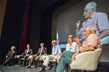 63rd Lindau Nobel Laureate Meeting, 2013 - Panel discussion 'Why Communicate' with Ada Yonath, Brian Kobilka and Sir Harold Kroto.