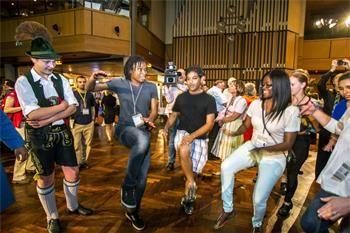 63rd Lindau Nobel Laureate Meeting, 2013 - Young researchers dancing during the Bavarian Evening.