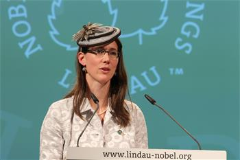 63rd Lindau Nobel Laureate Meeting, 2013 - Countess Bettina Bernadotte giving her speech at the 63rd Opening Ceremony.