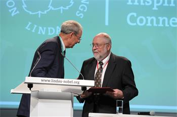 63rd Lindau Nobel Laureate Meeting, 2013 - Wolfgang Schürer and Klaus Tschira at the opening ceremony.