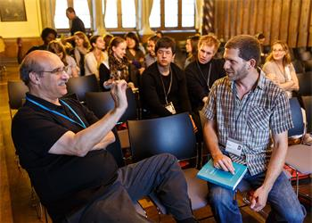 63rd Lindau Nobel Laureate Meeting, 2013 - Martin Chalfie holding a discussion session with young researchers.