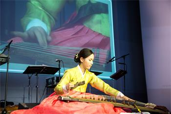 63rd Lindau Nobel Laureate Meeting, 2013 - Traditional Korean musician at the international get-together.