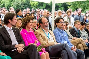 Queen Silvia of Sweden	 - Queen Silvia of Sweden	attending the closing panel discussion on Mainau Island at the 5th Meeting on Economic Sciences.
