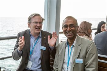 65th Lindau Nobel Laureate Meeting - Jack Szostack and Venkatraman Ramakrishnan at the 65th Lindau Nobel Laureate Meeting.