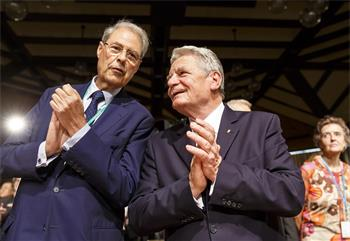 65th Lindau Nobel Laureate Meeting - Wolfgang Schürer and Joachim Gauck at the 65th opening ceremony.