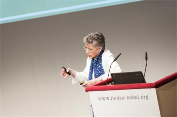 Françoise Barré-Sinoussi - Françoise Barré-Sinoussi holding his lecture 'Translational Science on Viral Infectious Diseases: From Louis Pasteur to Today'.