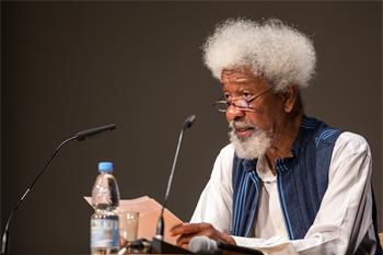 Wole Soyinka - Wole Soyinka delivering his lecture 'When Survival Seems Learning Enough' at the 65th Lindau Nobel Laureate Meeting.